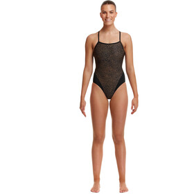 Funkita Single Strap One Piece Badpak Dames, leather skin